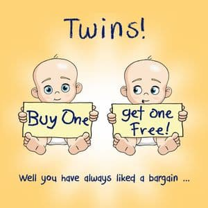 OCC6  Funny Its Twins Card Buy One Get One Free